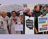 """SANOK: """"Mamy dość"""" kontra """"Nie zabijaj"""". Okrzyki, transparenty i dużo emocji podczas dwóch manifestacji (FILM, VIDEO, ZDJĘCIA)"""