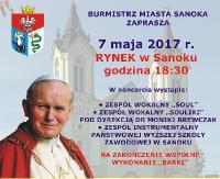 "7 MAJA: Koncert ku czci Jana Pawła II oraz plenerowa projekcja filmu ""Apartament"" (FILM)"