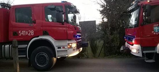BESKO: Płonący komin. Akcja strażaków (FOTO)