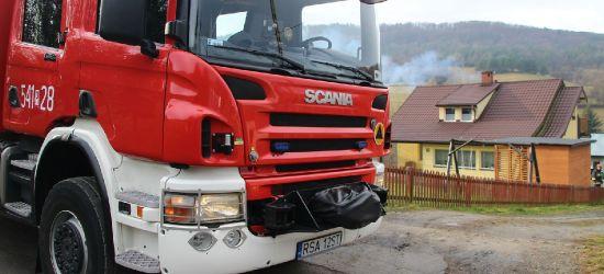 LISZNA. Pożar sadzy. Wspólna akcja strażaków OSP i PSP (ZDJĘCIA)