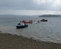 Akcja ratunkowa na Jeziorze Solińskim. Tonęła łódź (ZDJĘCIA)