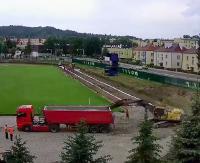 WIERCHY SANOK: Efekty prac przy stadionie coraz bardziej widoczne (FILM, TIMELAPSE)
