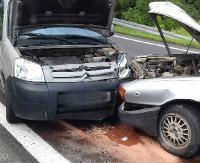 ZAGÓRZ: Stracił panowanie nad pojazdem i wjechał w osobówkę (ZDJĘCIA)