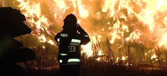 Ogromny pożar sortowni odpadów koło Jasła (VIDEO, ZDJĘCIA)