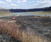 BIESZCZADY: W Rajskiem spłonęło ponad 2 hektary traw. Prawdopodobne podpalenie zgłoszono na policję (ZDJĘCIA)