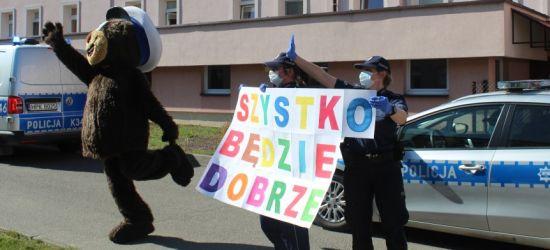 BRZOZÓW: Miś policjant odwiedził w święta chore dzieci (FILM, ZDJĘCIA)