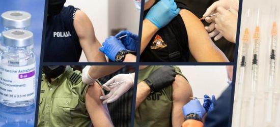Zaszczepiono już ponad 100 tys. funkcjonariuszy służb mundurowych