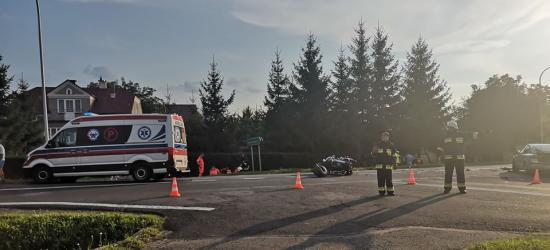 AKTUALIZACJA: Śmiertelny wypadek w Długiem. Zginął motocyklista i pasażer (FOTO)