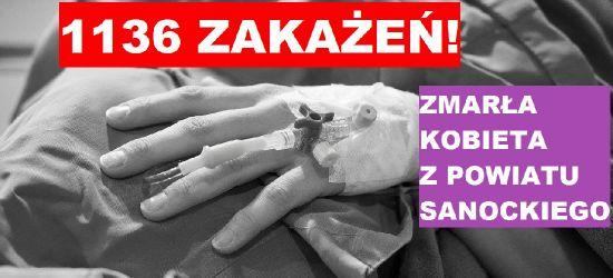Ponad 1100 zakażeń! Zmarła kobieta z powiatu sanockiego