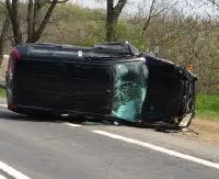 AKTUALIZACJA: Groźny wypadek w Besku. 4 osoby ranne, w tym 3 letnie dziecko (ZDJĘCIA)