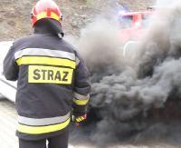 KRONIKA STRAŻACKA: Podtrucie tlenkiem węgla, pożar samochodu i zderzenie osobówki z ciężarowym