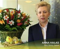 Życzenia wielkanocne wójt gminy Sanok Anny Hałas (FILM)