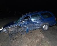 HUMNISKA: Czołowe zderzenie dwóch osobówek. 18-latka przewieziona do szpitala (ZDJĘCIA)