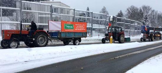 SANOK: Protest mieszkańców. Traktory wjeżdżają do Sanoka! (VIDEO)
