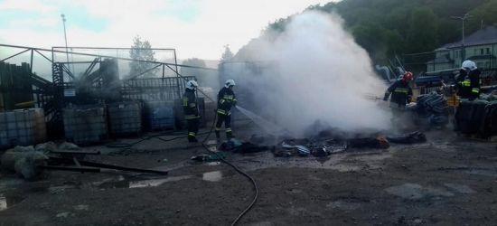 ZAGÓRZ: Pożar na terenie jednej z firm (FOTO)