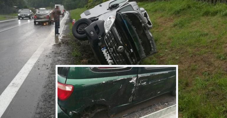 """Niebezpiecznie w Zahutyniu. """"Kierowca busa prawdopodobnie usnął za kierownicą"""" (ZDJĘCIA)"""