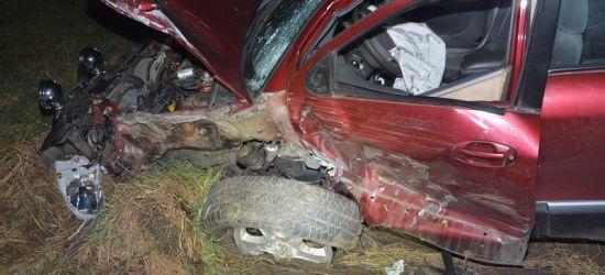 REGION: Cztery osoby ranne w wypadku (ZDJĘCIA)