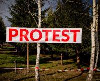 """ODJ ZAGÓRZ: """"Popieramy program Mieszkanie Plus, ale nie na terenach zielonych przy naszym osiedlu!"""" (ZDJĘCIA)"""