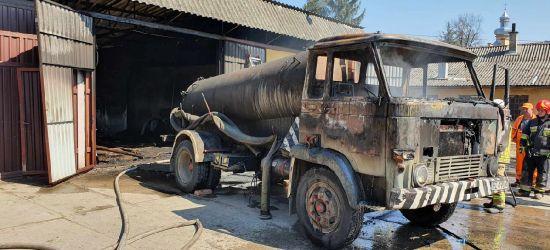 ZAGÓRZ: Pożar samochodu ciężarowego. Straty w hydroforni (FOTO)