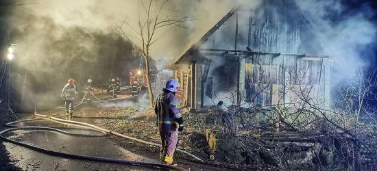 Pożar drewnianego domu. W akcji 8 zastępów straży pożarnej (ZDJĘCIA)