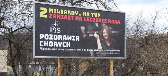 Billboardy z gestem posłanki PiS dotarły do Sanoka (ZDJĘCIA)