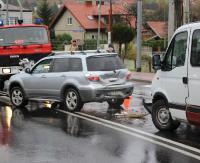 ZAGÓRZ: Ślisko na drogach. Stłuczka na Wolności w Zagórzu (ZDJĘCIA)