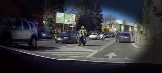 SANOK / VIDEO OD INTERNAUTY: Naganne zachowanie motocyklistów!