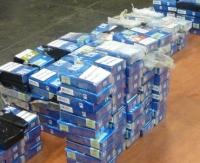 Wpadki przemytników w Krościenku. Przechwycone blisko 900 paczek papierosów