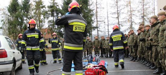 Terytorialsi z sanockiego batalionu ćwiczyli ze strażakami (FOTO)
