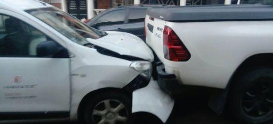 SANOK: Niebezpiecznie na Kościuszki! Jedna osoba poszkodowana (FOTO)