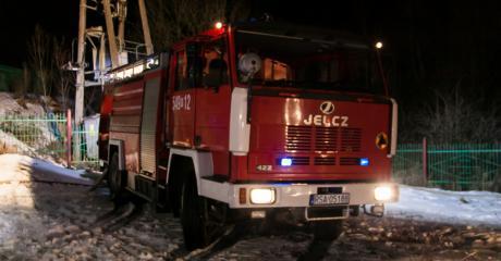 Zablokowana droga krajowa nr 19 w Woli Komborskiej. Płonie samochód ciężarowy