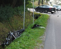 BRZOZÓW24.PL: Tragiczny wypadek w Wesołej. Nie żyje motocyklista (ZDJĘCIA)