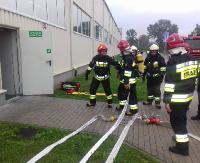 Strażacy przećwiczyli ewakuacje i przeszukanie fabryki w Zagórzu (ZDJĘCIA)