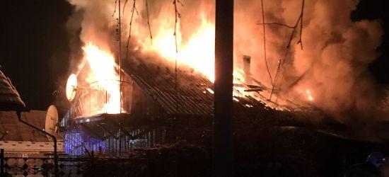 Potężny pożar domu w Zagórzu (ZDJĘCIA)