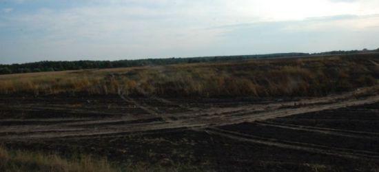 REGION: Potężny pożar. Spłonęło 40 hektarów pszenicy