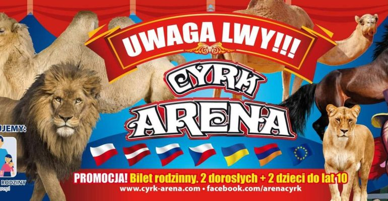 CYRK ARENA: Akrobacje, zwierzęta i dawka dobrego humoru! Zdobądź wejściówkę