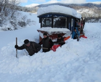 Nawet śnieg po pas nie zatrzyma Bieszczadzkiej Kolejki Leśnej! (ZDJĘCIA)