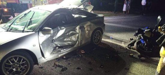 PODKARPACIE. Wypadek. Ciężko ranny kierowca motocykla (ZDJĘCIA)