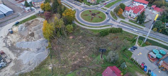 SANOK: Wycinka drzew przy budowie łącznika (FOTO)