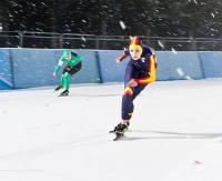OOM w Sportach Zimowych. Panczeniści ścigali się na torze lodowym (ZDJĘCIA)
