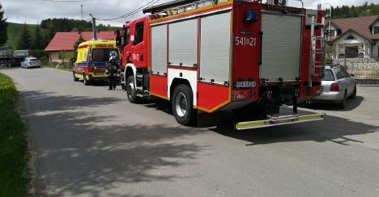 Zderzenie osobówki z ciężarówką w Nadolanach