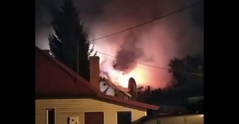 LESKO: Potężny pożar domu! (VIDEO)