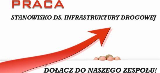 PRACA. Stanowisko ds. infrastruktury drogowej