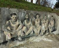 Nowe, efektowne murale w Sanoku. Dawni sportowcy, mieszkańcy miasta sprzed lat (VIDEO, ZDJĘCIA)