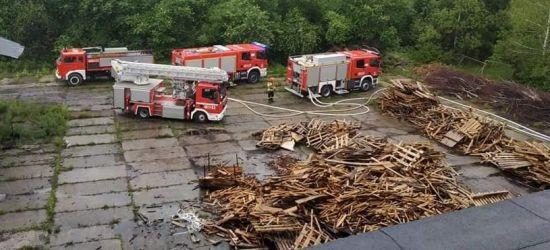 Pożar przedsiębiorstwa produkującego węgiel drzewny! (FOTO)