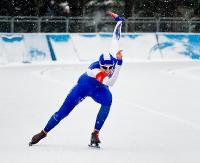SANOK: Łyżwiarze walczyli o lampę górniczą. Na torze lodowym rozegrano zawody barbórkowe i Puchar Polski (ZDJĘCIA)