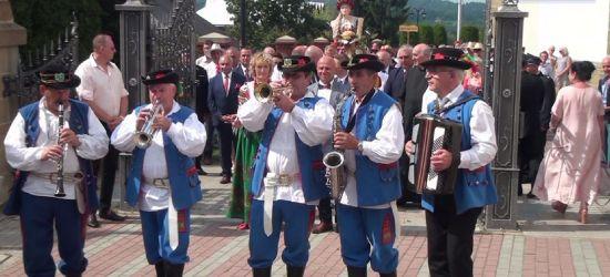 Muzyka, ludowe stroje, świetna zabawa i pachnący chleb. Dożynki gminy Lesko (VIDEO)