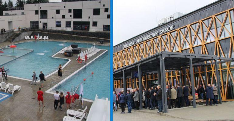 """SANOK: Dworzec autobusowy oraz baseny nagrodzone """"Kryształową Cegłą"""""""