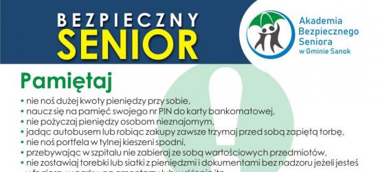 Oszuści są wszędzie. Akademia Bezpiecznego Seniora w Gminie Sanok