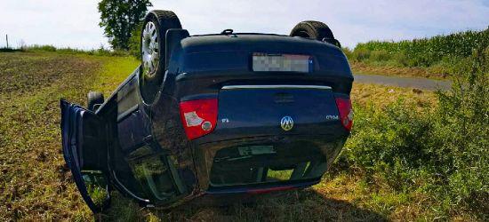 PODKARPACIE. Samochód wypadł z drogi i kilkukrotnie koziołkował (ZDJĘCIA)